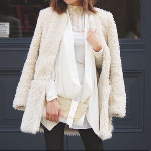 🐑 Tobi Fur Ever Fancy Coat in Ivory